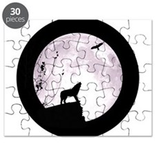 Funny Wolf and moon Puzzle