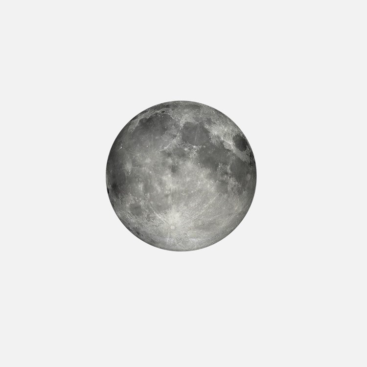 Cute Full moon Mini Button