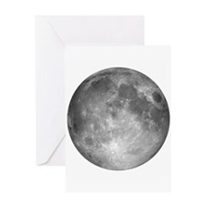 Square Moon Background2 Greeting Cards