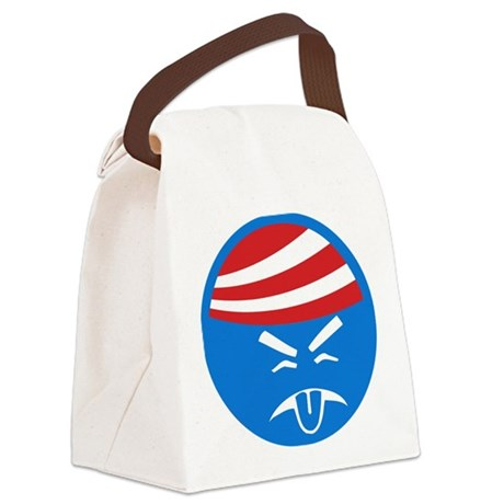 Obama Sucks Icon Canvas Lunch Bag