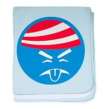 Obama Sucks Icon baby blanket