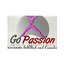 Go Passion Personal Development Rectangle Magnet