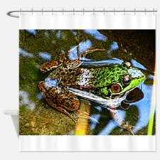 Young Bullfrog Shower Curtain