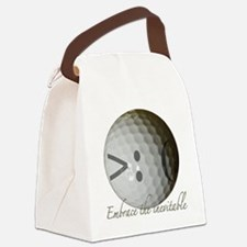 Angry Golf ball Canvas Lunch Bag