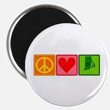 Peace Love Rhode Island Magnet