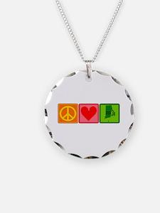 Peace Love Rhode Island Necklace