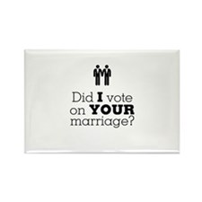 gay marriage Men Rectangle Magnet