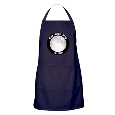 One Small Step For Man Apron (dark)