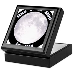 One Small Step For Man Keepsake Box