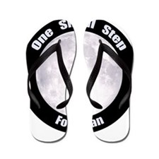 One Small Step For Man Flip Flops