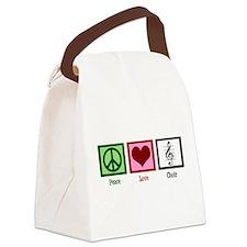 Peace Love Choir Canvas Lunch Bag