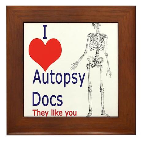 Autopsy Docs Framed Tile