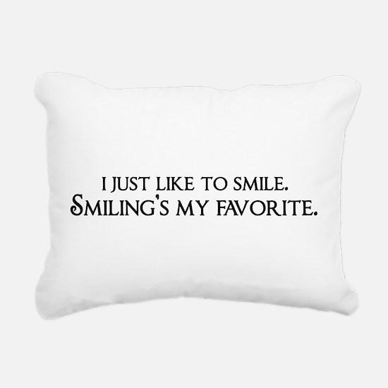 Smiling's My Favorite Rectangular Canvas Pillow