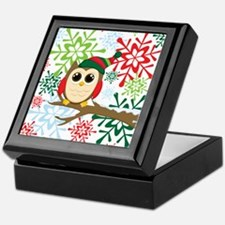Christmas owl Keepsake Box