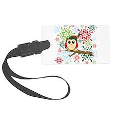 Christmas owl Luggage Tag