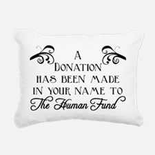 Human Fund Rectangular Canvas Pillow