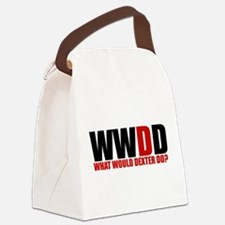 What Would Dexter Do Canvas Lunch Bag