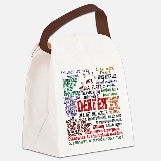 Best Dexter Quotes Canvas Lunch Bag