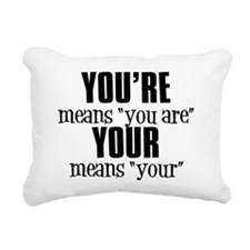 You're vs. Your Rectangular Canvas Pillow