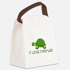 I Like Turtles Canvas Lunch Bag