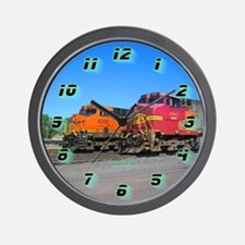 Dual Trains Wall Clock