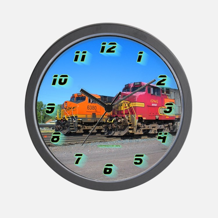 Dual Trains Wall Clock