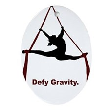 Defy Gravity Ornament (Oval)