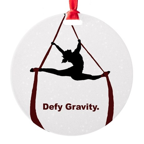 Defy Gravity Round Ornament