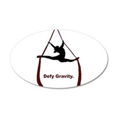 Defy Gravity 20x12 Oval Wall Decal