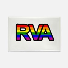 Go RVA LGBT Rectangle Magnet