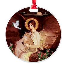 Angel3 - Orange Tabby cat Ornament