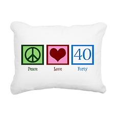 Peace Love 40 Rectangular Canvas Pillow