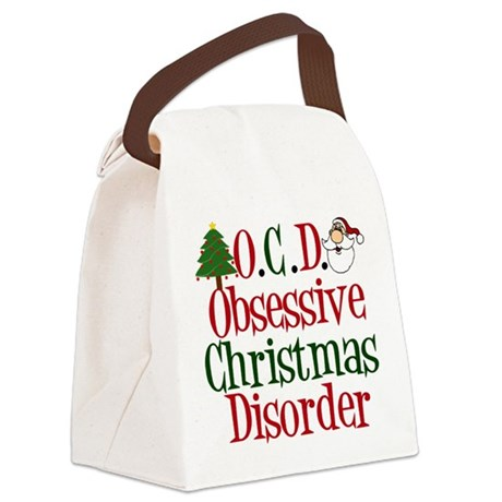 Christmas Crazy Canvas Lunch Bag