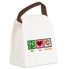 Peace Love Thanksgiving Canvas Lunch Bag