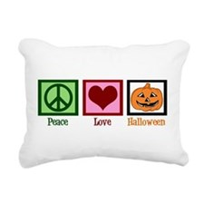 Peace Love Halloween Rectangular Canvas Pillow