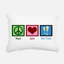 Peace Love New Years Rectangular Canvas Pillow
