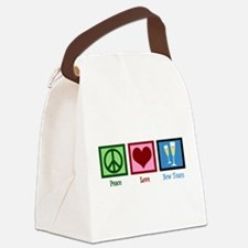 Peace Love New Years Canvas Lunch Bag