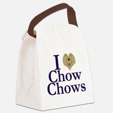 I Heart Chows Canvas Lunch Bag