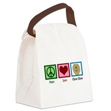 Peace Love Chow Canvas Lunch Bag