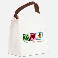 Cute Golden Retriever Canvas Lunch Bag