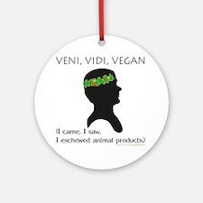 Veni Vidi Vegan Ornament (Round)