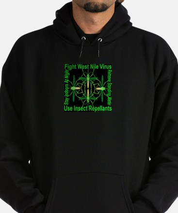 Fight West Nile Virus Hoodie (dark)