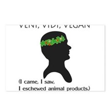 Veni Vidi Vegan Postcards (Package of 8)