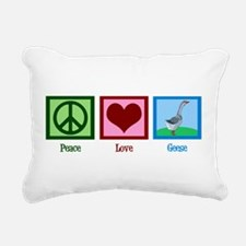 Peace Love Geese Rectangular Canvas Pillow