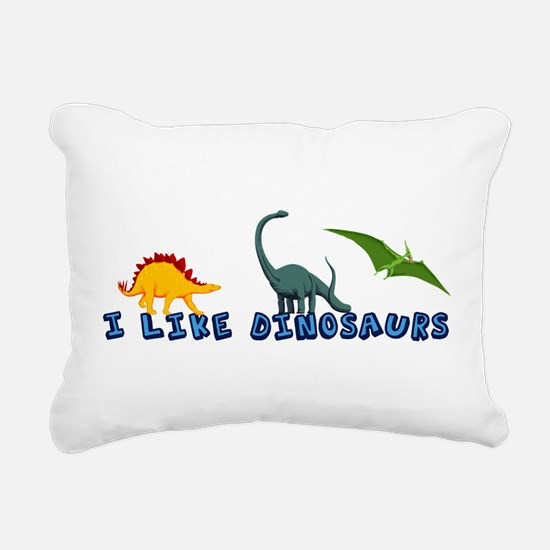 I Like Dinosaurs Rectangular Canvas Pillow