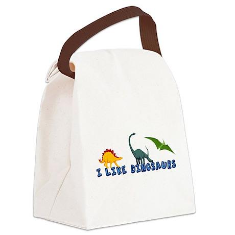 I Like Dinosaurs Canvas Lunch Bag