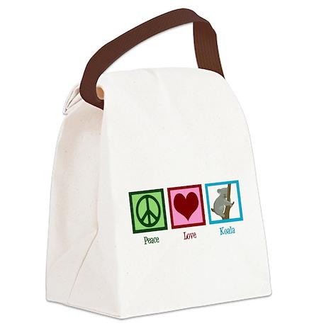 Peace Love Koala Canvas Lunch Bag