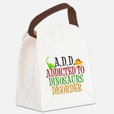 Funny Dinosaur Canvas Lunch Bag