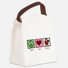 Peace Love Turkey Canvas Lunch Bag