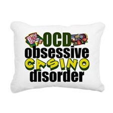 Funny Casino Rectangular Canvas Pillow